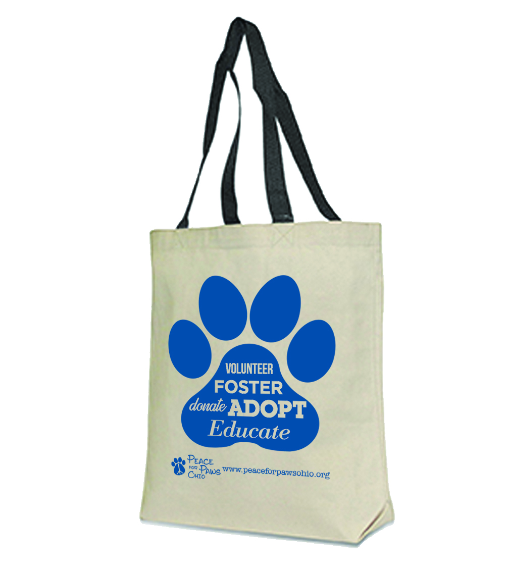 Peace For Paws Word Paw Bag